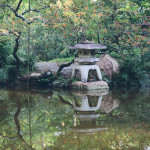 Stone Lantern in the Modern Romantic Garden